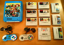 Super Nintendo (SNES) Konsole // +10 Spiele +2 Kontroller + alle Kabel //dt. PAL