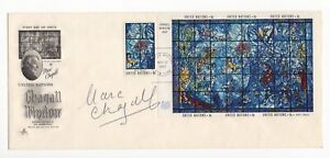 Marc Chagall - Famed 20th Century Fine Artist - Autographed First Day Cover