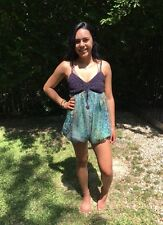 NWT RYU green chiffon culottes purple crochet top summer shorts small one piece