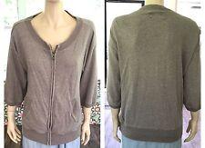 Madewell Hi Line Zip Up Top Sweater Jacket 3/4 Sleeve Womens Size Medium