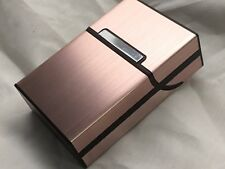 Plastic / Brushed Aluminum Cigarette Case Pocket Box - COPPER - 8137