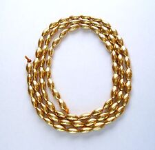18K OVAL BEADS, 4 X 7 MM, 80 PIECES, 15.0 GRAMS