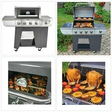 Gas Grill 4 Burner Bbq Grill Barbeque Outdoor Cookin Side Burner Stainless Steel