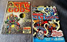 1971 DC COMICS JACK KIRBY NEW GODS #1,2 BRONZE AGE COMIC BOOKS. FIRST DARKSEID