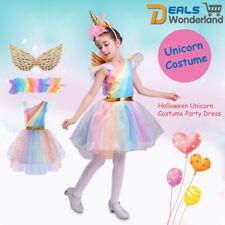 Kids Girls Halloween Unicorn Costume FANCY DRESS Cosplay Party Dress Gift