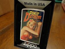 PETER DRIBEN DETECTIVE PINUP GIRL #3 PULP MAGAZINE ZIPPO LIGHTER MINT #56/100