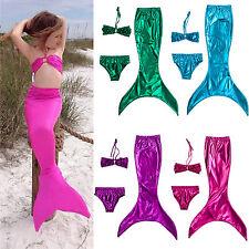 3 pz bambine coda di sirena swimmable Set Bikini costumi da bagno
