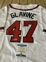 Tom Glavine Autographed/Signed Jersey Beckett COA Atlanta Braves