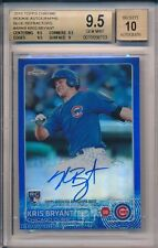 Kris Bryant Auto Cubs Rookie RC 2015 Topps Chrome BLUE 7/150 BGS 9.5 10