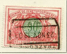 BELGIUM;  RAILWAY PARCEL POST 1902 early issue 90c. fine used value