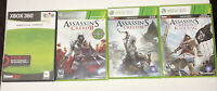 lot of 4 Assassin's Creed 1 2 3 4 Black Flag(Xbox 360) As Pictured