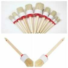 1Set Chalk Oil Paint Painting Wax Round Bristle Wooden Handle Brush