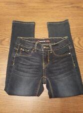 Girls Size 6 Slim Jordache Dark Wash Stretch Super Skinny Jeans W/Adjustable...