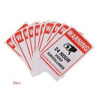 10PCS Surveillance Security Camera Video Sticker Warning Decal Sign 10 x 15cm U