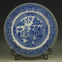 ANTIQUE 1886-1900 GRIMWADES YE OLDE WILLOW-BLUE WILLOW DINNER PLATE
