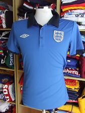 Trikot England (M) Polo Shirt Umbro Blau Blue Jersey Maglia Maillot Camiseta