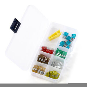 50 pcs Assorted Car Truck Micro2 Blade Fuse Set Fuse Assortment Kit For Car SUV