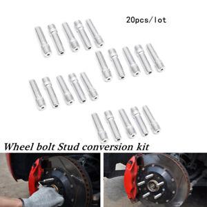 Universal 20* 14x1.25-12x1.5 Rim Wheel Conversion Converter Adapter Bolts Studs