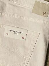 New AG Jeans ADRIANO GOLDSCHMIED Ex-Boyfriend Slim Slouchy White Jeans Size 29