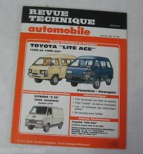 Revue technique automobile RTA 469 1986 Toyota Lite Ace 1290 & 1486 cm3