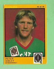 #D135. 1982 SCANLENS QUEENSLAND R/L CARD  #45  PETER SIBLEY, WYNNUM MANLY