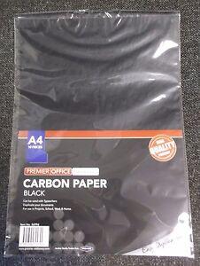 10 SHEET A4 CARBON PAPER  HAND COPY/ TYPEWRITER  - BLACK