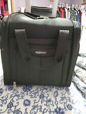 AmazonBasics Underseat Carry-On Rolling Travel Luggage Bag Black