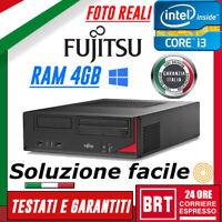 PC DESKTOP COMPUTER FISSO FUJITSU ESPRIMO E520 SFF CPU I3 4gen RAM 4GB +WIN10!!!