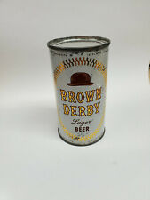 Brown Derby Lager Beer 1950's flat-Empire Brewing Co, Chicago, Il-Good Conditio