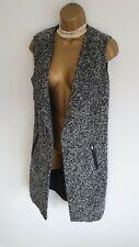 John Rocha BNWT Super Glam Sexy sleeveless wool blend grey jacket bodywarmer 10