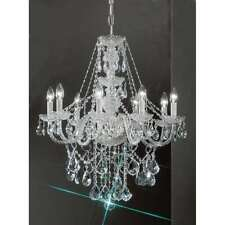 Classic Lighting Monticello Crystal All Glass Chandelier, Chrome - 8258CHC