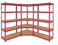 2*1.2m ,1 Corner Rack Garage Shelving warehouse  Metal MDF Shelves Red S-G120R