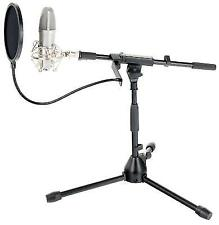USB Studio Recording Condenser Microphone Mic Table Stand Pop Filter Podcast Kit