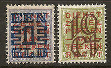 """NETHERLANDS 1923 #132-133 mlh """"- two scans"""" D166G"""