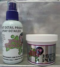 PIG SNOT DETAIL METAL & CHROME POLISH W/ FREE BONUS OF 4 OZ DETAIL SPRAY