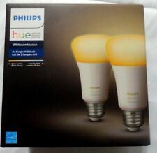 Philips Hue White Ambiance 2x single a19 bulb brand new in box