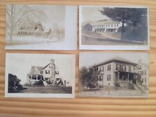 Lot Of 4 Real Photo Postcards Residences AZO CYKO KRUXO Stamp Boxes