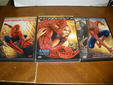 Lot of 3 Spiderman Movies 1 2 3 DVD  Trilogy