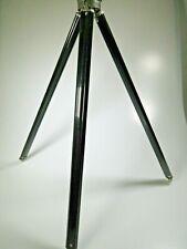 Vintage Bilora Stabilo Telescoping Tripod Black Legs All Metal Made in Germany