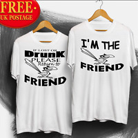 T-shirt best friend tshirt, if lost or drunk , funny joke birthday gift Free P&P