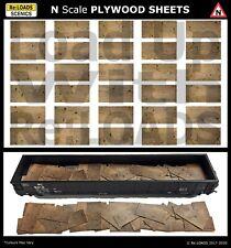 PLYWOOD SHEETS, N Scale, N Gauge Model Railway Loads, Wood & Lumber Yard Details