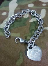 "Tiffany & co  Heart  Bracelet  7 1/2"" 30.8 gram"