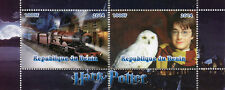 Benin 2014 MNH Harry Potter Hogwarts Express 2v S/S I Trains Rail Owls Stamps