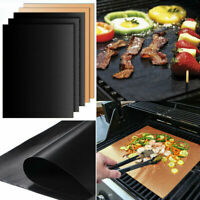5x Grillmatte Dauer antihaft BBQ Grillmatten Bratfolie Backmatte Grillschale DE