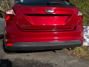 2012 2013 2014 Ford Focus rear bumper reinforcement hatchback maroon color OEM