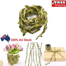 10M Natural Vintage Jute Hessian Burlap Ribbon Leaf Rustic Belt Floristry Decor