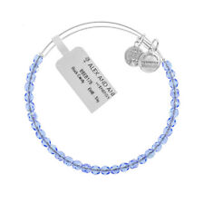 Alex and Ani Sky Rock Candy Beaded Silver Bangle BBEB176S - RRP £33