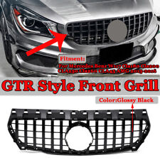GT-R Front Hood Grille Grill For Mercedes W117 CLA200 CLA250 CLA45 AMG 2013-16