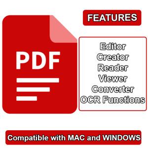 PDF Editor, Creator, Reader, Viewer, Converter - Lifetime License - Best Price