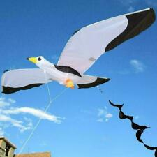 3D Seagull With Line Kite Kids Toy Outdoor Sports Beach Flying Kite Toys F9R5